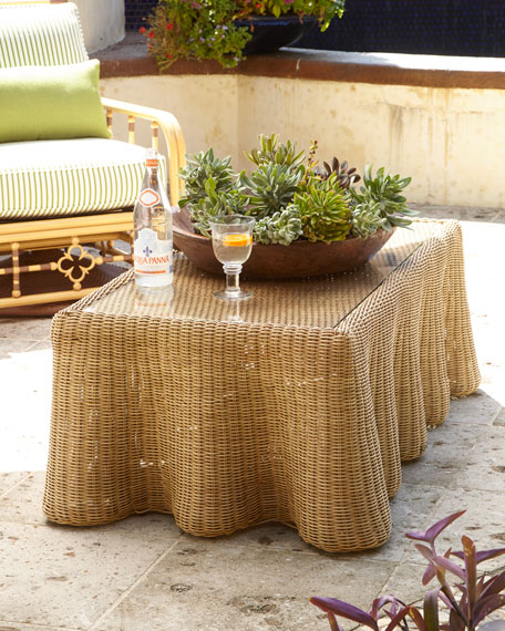 Lane Venture Mimi Outdoor Sofa & Crespi Wave