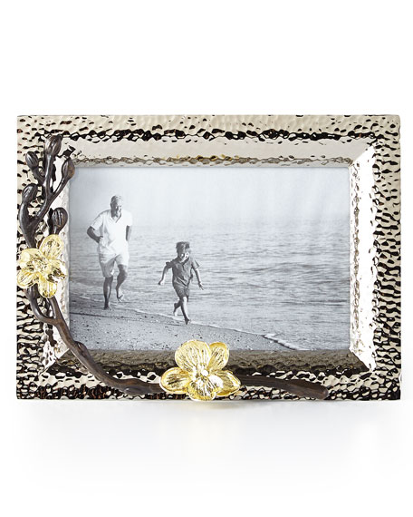 """Michael Aram Gold Orchid 4"""" x 6"""" Picture Frame"""