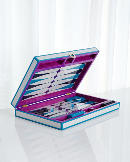 Jonathan Adler Purple Backgammon Set