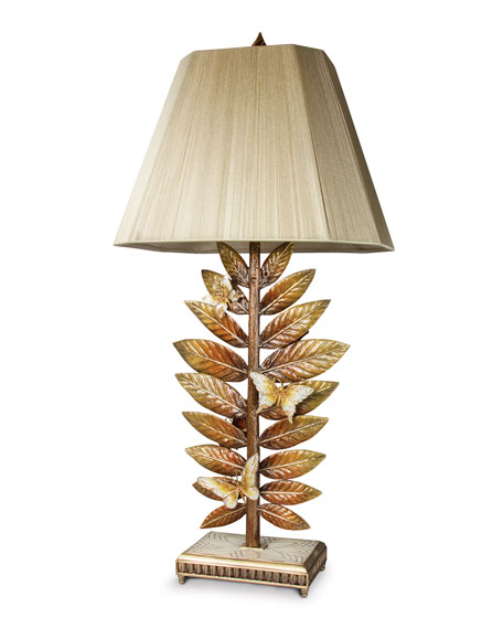 Jay Strongwater Butterfly & Leaf Lamp