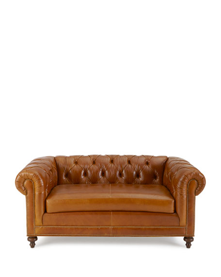 "Davidson 94"" Slab Seat Chesterfield Sofa"