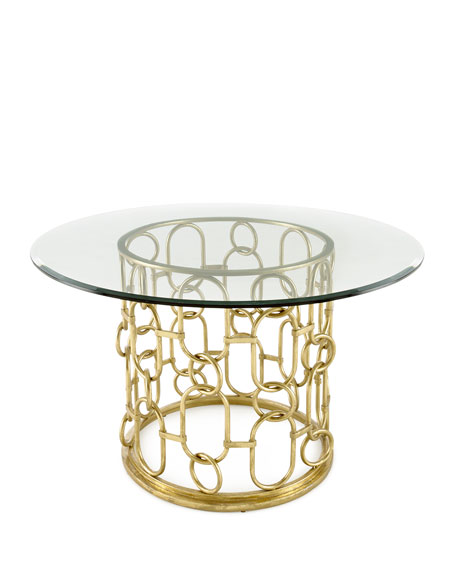 Selinda Glass-Top Dining Table