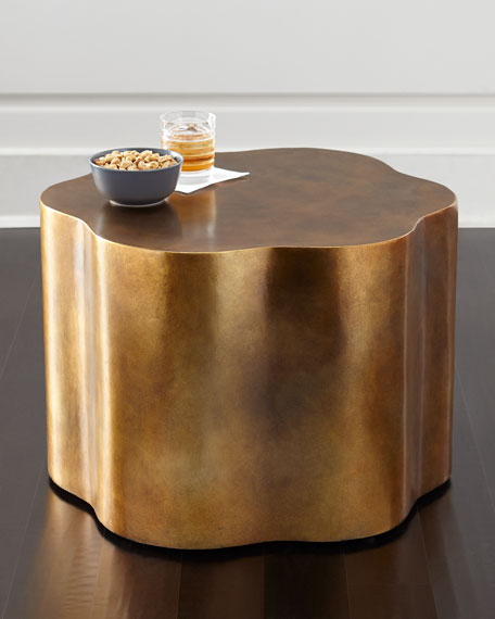 Image 1 of 3: Orla Copper Accent Table