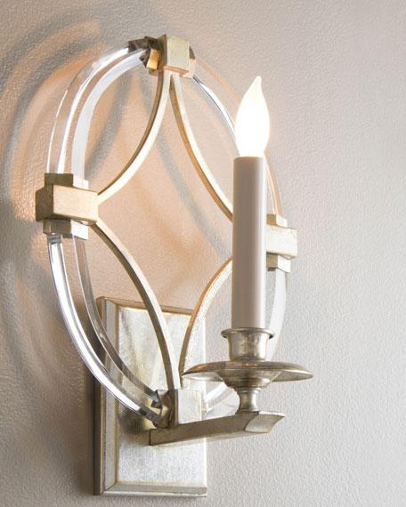 John-Richard Collection Bent-Crystal One-Light Sconce