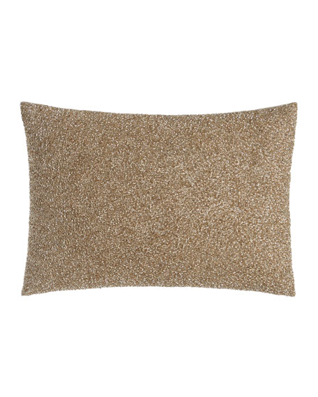 "Palladium Beaded Pillow, 14"" x 20"""