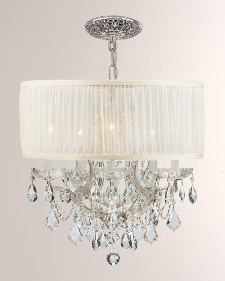 Crystorama Crystorama Brentwood 6-Light Elements Crystal Chrome Drum Shade Chandelier