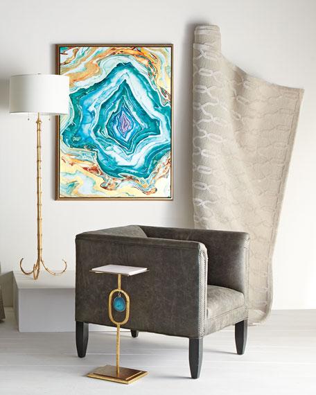Regina Andrew Design Eve Teal Agate Side Table