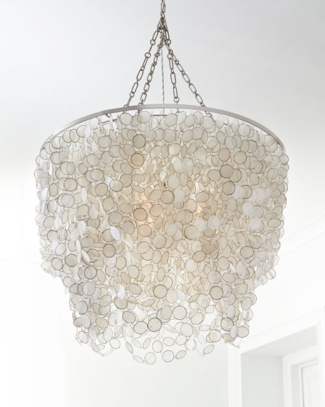 Bernadette 3 light capiz chandelier