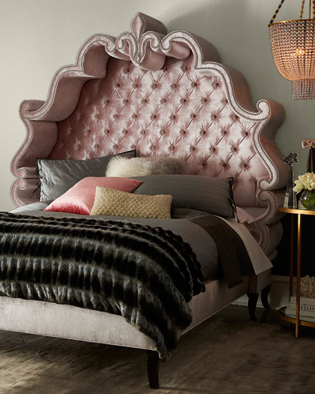 Haute House Maria Tufted King Bed