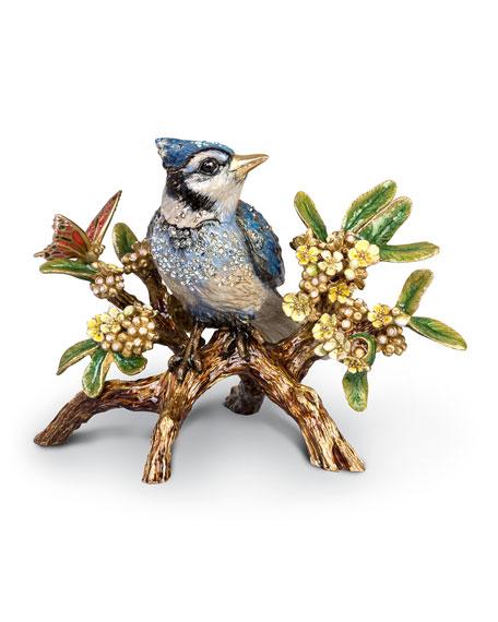 Blue Jay on Branch Figurine
