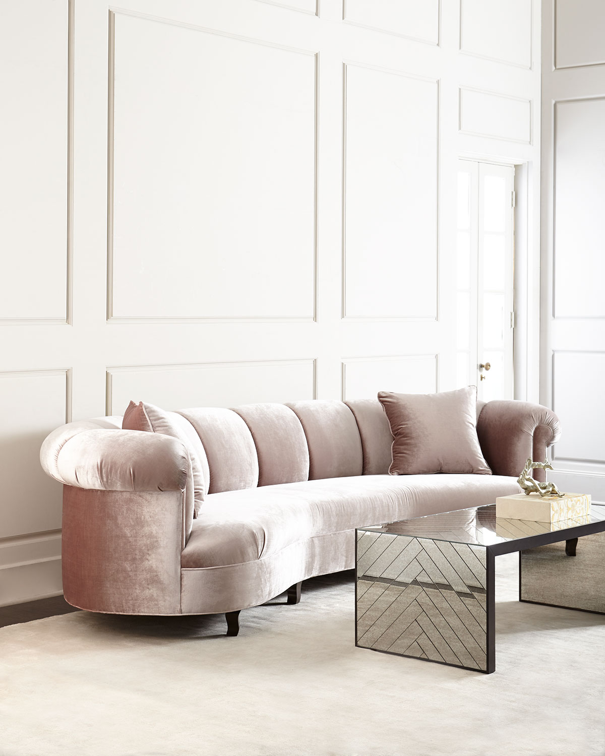 Audrey Channel Tufted Sofa 90