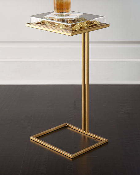 Tommy Mitchell Gilded Gingko Cocktail Table