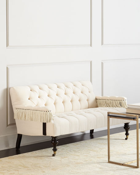 Old Hickory Tannery Church Hill Tufted Settee