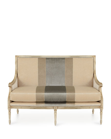 Lilah Buff Colorblock Settee