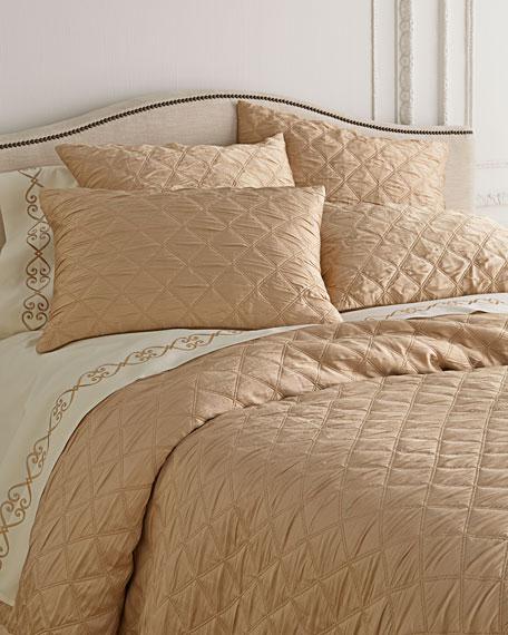 Fino Lino Linen & Lace Selena Plisse Bedding