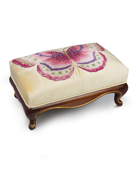Jay Strongwater Butterfly Ottoman