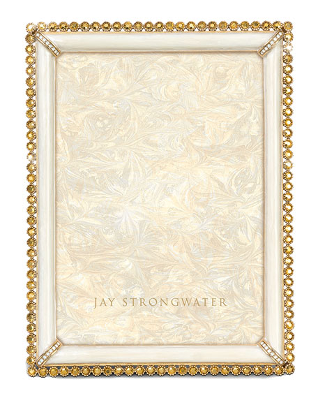 """Jay Strongwater Stone-Edge 5"""" x 7"""" Picture Frame"""