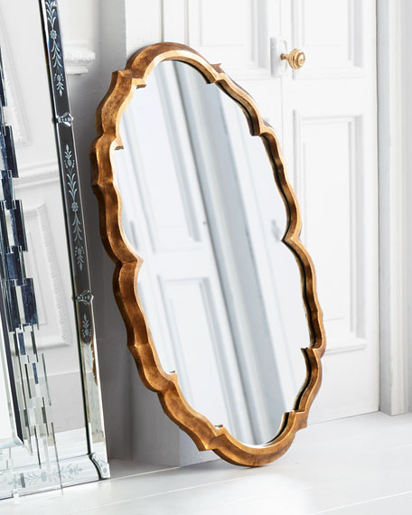 Centerpoint Brass Scalloped Mirror