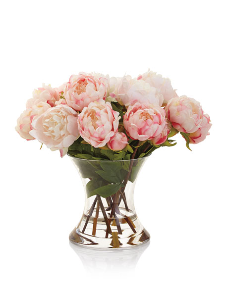 Image 3 of 3: John-Richard Collection Peonies N Pink Faux-Floral Arrangement