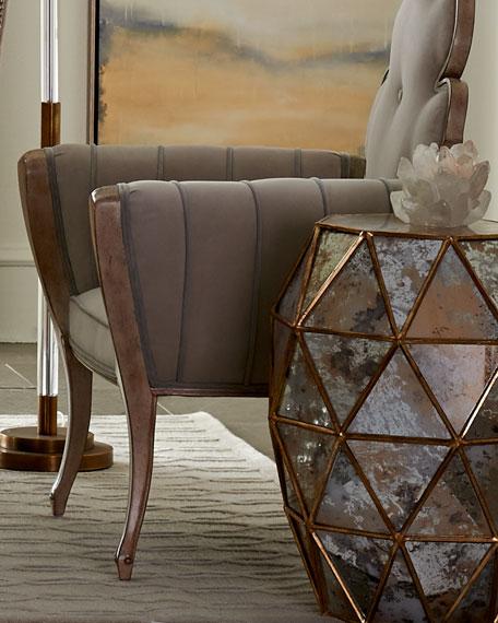 Zora Mirrored Hexagon End Table
