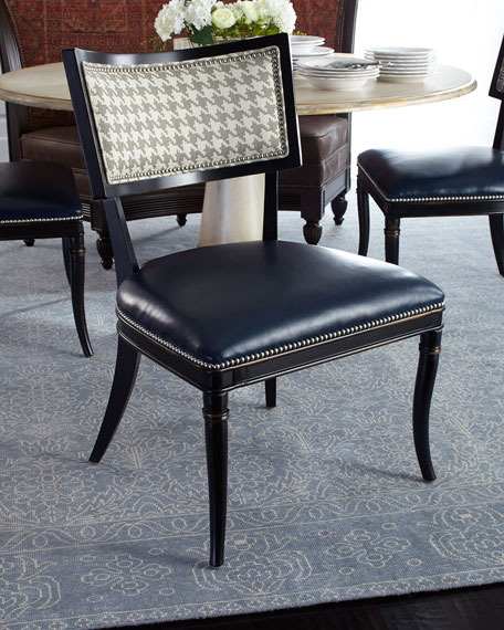 Massoud Saylor Houndstooth Side Chair
