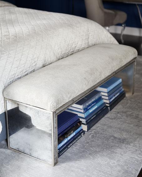 John-Richard Collection Jacory Eglomise Bench