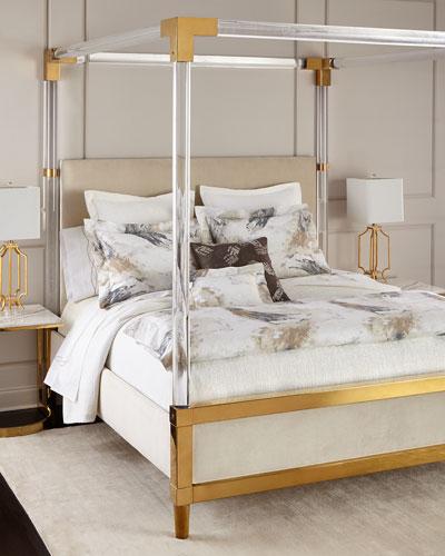 Hayworth Golden Acrylic King Bed