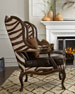 Zena Hairhide & Leather Wing Chair