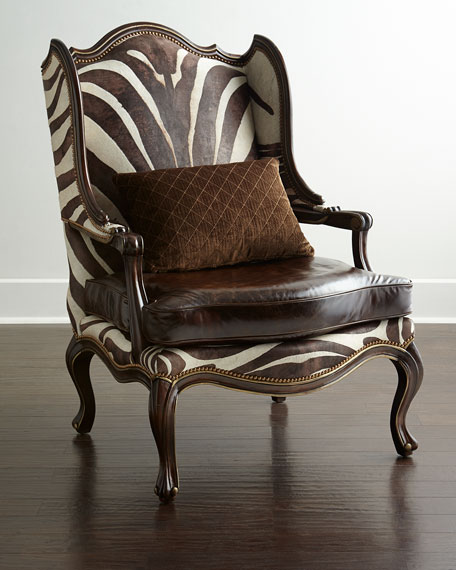Massoud Zena Hairhide & Leather Wing Chair