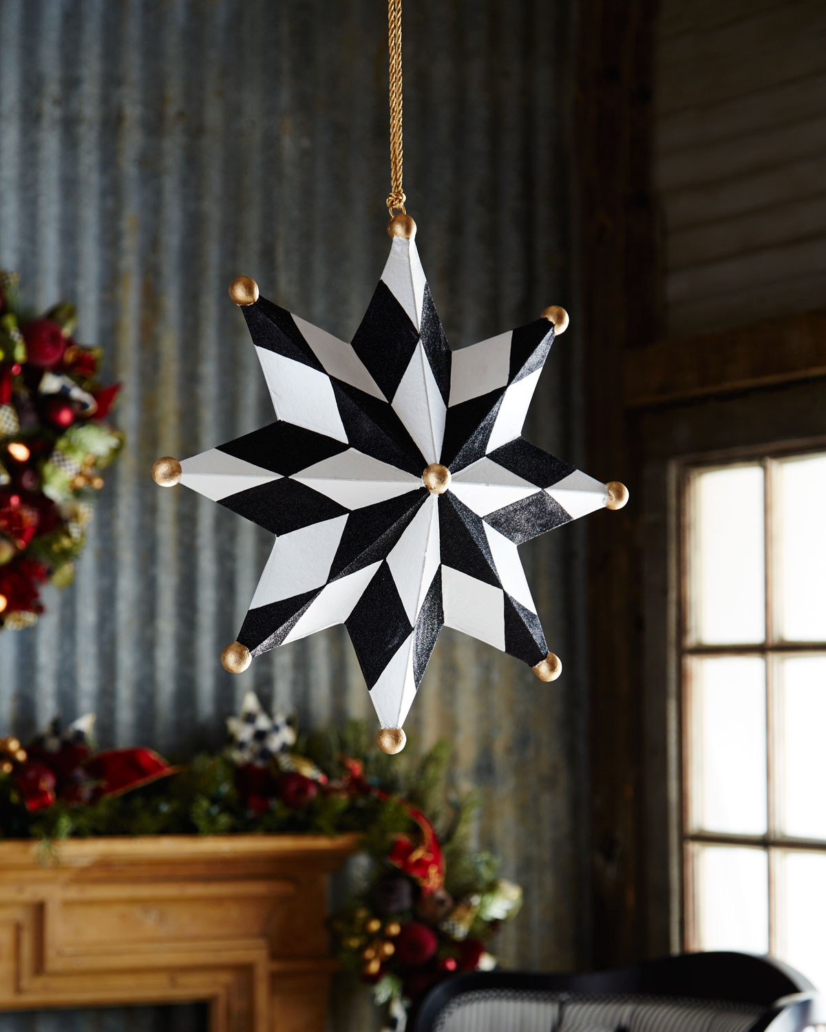 MacKenzie-Childs North Star Jumbo Christmas Ornament | Neiman Marcus