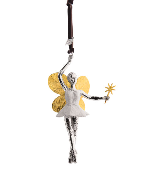Botanical Leaf Fairy Christmas Ornament