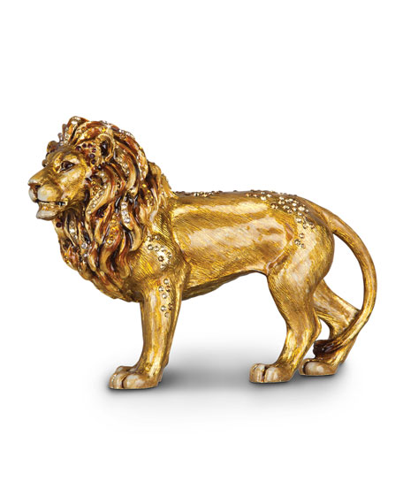 Image 1 of 3: Jay Strongwater Lion Figurine