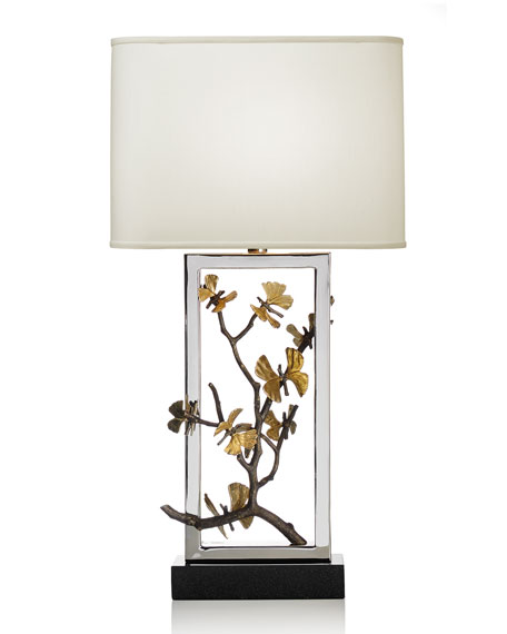 Image 3 of 3: Butterfly Ginkgo Table Lamp