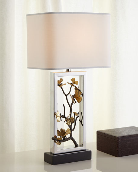 Image 1 of 3: Butterfly Ginkgo Table Lamp