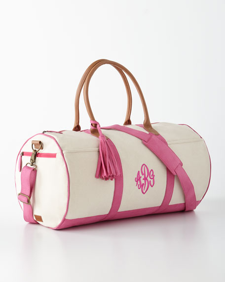 Pink Monogrammed Duffel