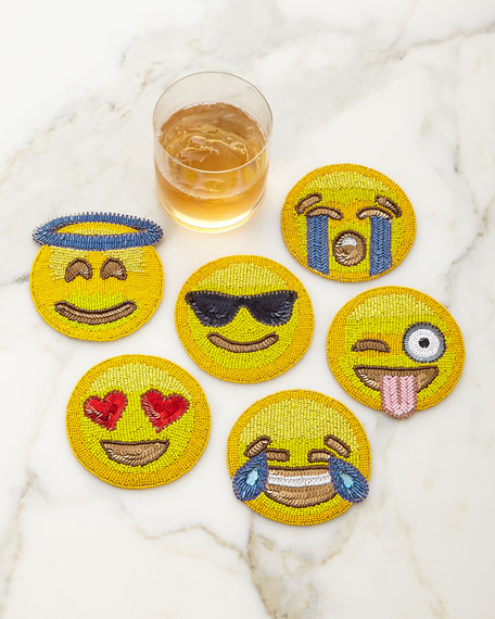 Emoji Coasters, 6-Piece Set