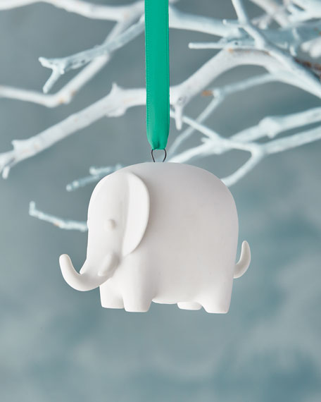 Jonathan Adler White Elephant Christmas Ornament