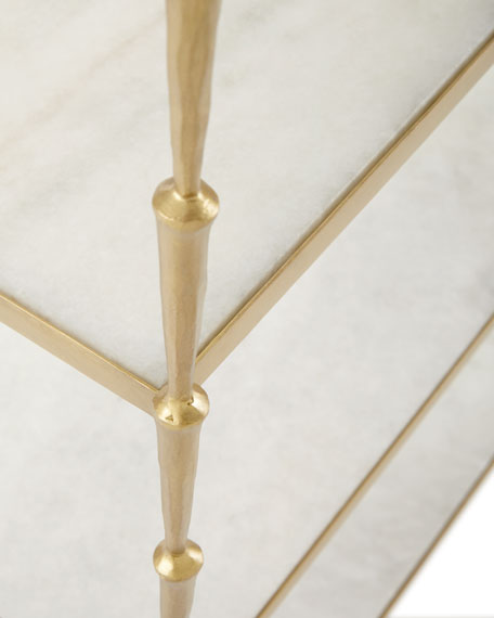 Kula Antiqued-Brass Etagere