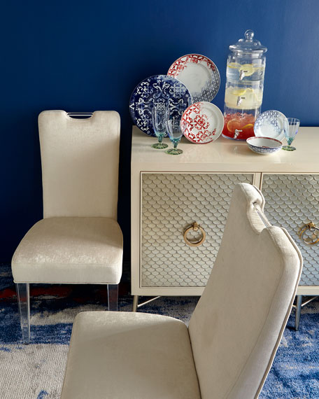Teaticket Acrylic Dining Chair, Set of 2