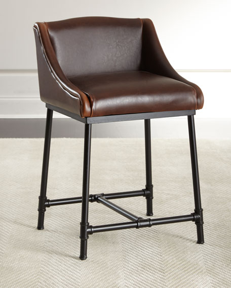 Fairfield Leather Counter Stool
