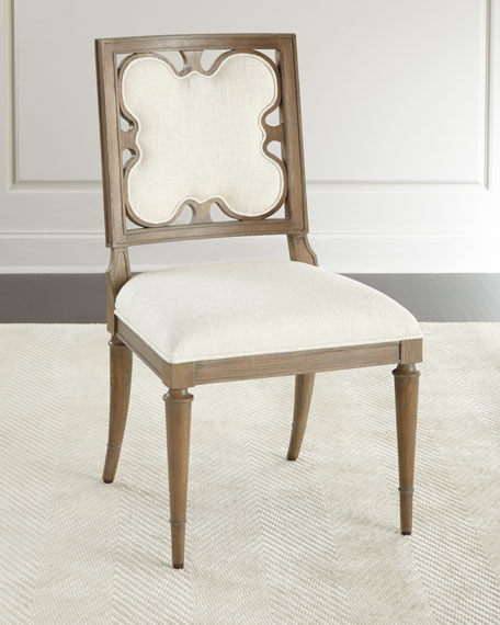 Ambella Linen Clover Side Chair & Shandling Dining