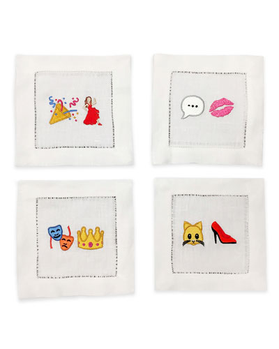 Cool Chick Emoji Cocktail Napkins