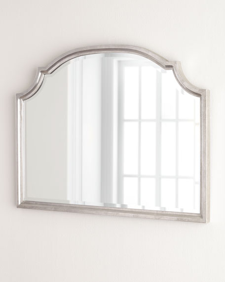 Silver-Leaf Horizontal Mirror