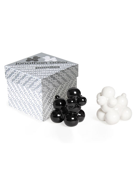 Image 3 of 3: Jonathan Adler Poodle Salt & Pepper Shakers
