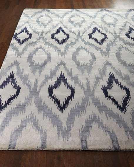 Image 1 of 3: Exquisite Rugs Mesa Hand Knotted Ikat Rug, 12' x 15'