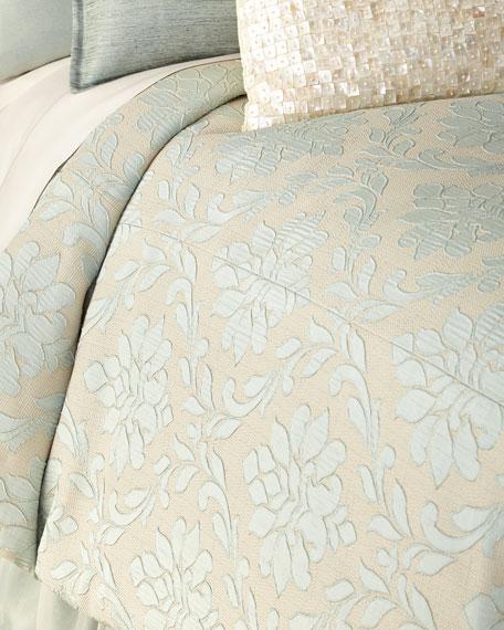 Fino Lino Linen & Lace King Chianti Duvet