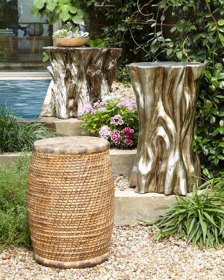 Tree Stump Accent Table