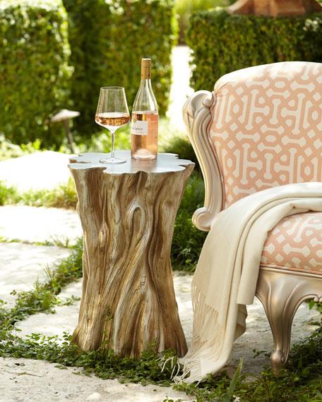 tree stump accent table. Black Bedroom Furniture Sets. Home Design Ideas
