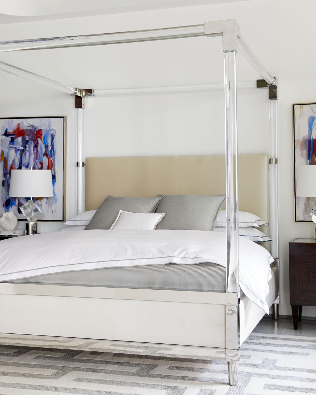BernhardtRayleigh Acrylic King Canopy Bed & Bernhardt Rayleigh Acrylic King Canopy Bed | Neiman Marcus