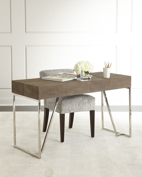 Mitzi Faux-Shagreen Desk